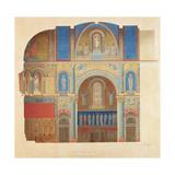 Saint-Paul Church, Nimes, Longitudinal Section of the Choir Giclee Print by Alexandre Dominique Denuelle