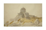 Hindu Temple on Summit of the Tukt-I-Suliman, Srinagar, Kashmir, 1835 Giclee Print by Godfrey Thomas Vigne
