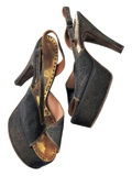 Gold Lame Mules Worn by Marilyn Monroe, Labeled Anello and Davide, London, C.1956 Photographic Print