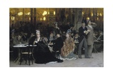 A Parisian Cafe, 1875 Giclee Print by Ilya Efimovich Repin