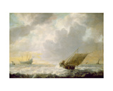 Seascape, C.1650 Giclee Print by Simon Jacobsz. Vlieger