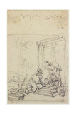 Study of Figures, 18th/19th Century Giclee Print by George Chinnery