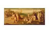 Deucalion and Pyrrha Giclée-tryk af Domenico Beccafumi