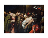 Christ and the Adulteress Giclee Print by Pietro Della Vecchia