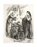 Romeo Buys Poison from the Apothecary, Illustration from Romeo and Juliet, from 'The Illustrated… Giclee Print