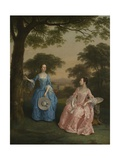 Alicia and Jane Clarke, C.1758 Giclee Print by Arthur Devis