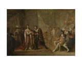 Peter Paul Rubens Accepting a Sword from Charles I of England, 1808 Giclee Print by Joseph de Cauwer