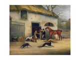 Coursing: Setting Off Giclee Print by Samuel Alken