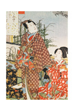 Illustration from 'The Tale of Genji' Giclee Print by Utagawa Kunisada