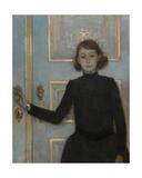 Portrait of Marguerite Van Mons Gicleetryck av Théo van Rysselberghe