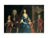 Group Portrait of Henry, 5th Lord Arundell of Wardour and His Wife Elizabeth, Together with their… Giclee Print by James Francis Maubert