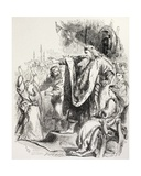 Lear Believes Cordelia Does Not Love Him and Banishes Her, Illustration from King Lear, from 'The… Giclee Print