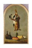 Still Life (Hare, Duck, Bottles, Bread and Cheese), 1742 Giclee Print by Jean-Baptiste Oudry