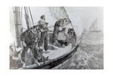 The East African Slave Trade: Steam-Piannace of H.M.S. London Chasing a Slave Dhow, after a… Giclee Print by William Heysham Overend