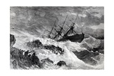 "The Wreck of the ""Atlantic"", Published in 'Harper's Weekly', April 1873 Giclee Print"