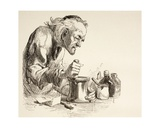 An Apothecary Grinding Herbs, from 'The Illustrated Library Shakespeare', Published London 1890 Giclee Print
