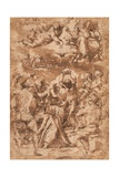 The Stoning of St. Stephen, with the Trinity Above Giclee Print by Giorgio Vasari