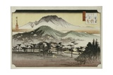 Evening Bell at Mii Temple, from the Series 'Eight Views of Lake Biewa' Giclee Print by Ando Hiroshige