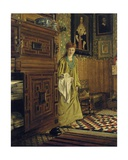 Portrait of Laura, Lady Alma-Tadema, Probably Entering the Dutch Room at Townshend House,… Giclee Print by Ellen Gosse