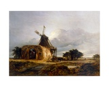 St Benet's Abbey and Mill, Norfolk, 1833 Giclee Print by William James Muller