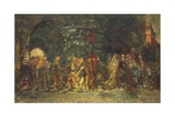 A Procession, C.1880 Giclee Print by Adolphe Joseph Thomas Monticelli