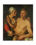 The Young Man and the Old Woman, 1614 Giclee Print by Hendrik Goltzius
