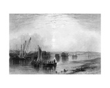 Chatham, Kent, Published in Finden's 'Ports and Harbours', Engraved by E. Finden, 1842 Giclee Print by Henry Warren