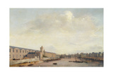 The Louvre Grande Galerie, View of Paris from the Barbier Bridge, C.1640 Giclee Print by Abraham de Verwer