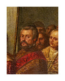 A Venetian Senator, Detail from King Henri III of France Visiting Venice in 1574, from the Room… Giclee Print by Andrea Vicentino