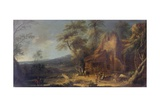 Landscape with Ruin, 1720 Giclee Print by Michele Pagano