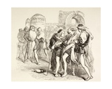 Tybalt Is Fatally Wounded by Romeo, Illustration from Romeo and Juliet, from 'The Illustrated… Giclee Print