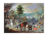Pillage Scene in a Village Giclee Print by Sebastian Vrancx
