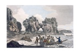 View of the Castle Rock, from the Landing Place on the Flat Holmes, from 'A Picturesque Guide to… Giclee Print by  J. Hassell and J.C. Ibbetson
