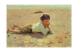 Boy on Shore, 1886 Giclee Print by Walter Frederick Osborne