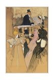 At the Opera Ball, 1893 Lámina giclée por Henri de Toulouse-Lautrec