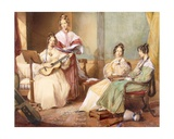 The Four Daughters of Archbishop Sumner, 1833 Giclee Print by George Richmond