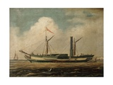 Cross-Channel Steamer 'Belfast' Off Brighton Giclee Print by Richard Henry Nibbs