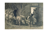 The Sheepfold, 1887 Giclee Print by Giovanni Segantini