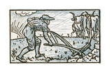 The Ploughman, Song Illustration for 'Who Liveth So Merry in All This Land', from 'Pan-Pipes', a… Giclee Print by Walter Crane