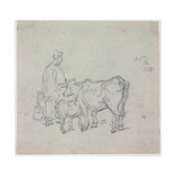 Study of Cattle, 1838 Giclee Print by George Chinnery