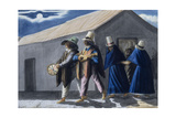 Strolling Musicians in the Streets of Bogota, by Moonlight, 1840 Giclee Print by Joseph Brown