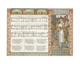 Sally in Our Alley', Song Illustration from 'Pan-Pipes', a Book of Old Songs, Newly Arranged and… Giclee Print by Walter Crane