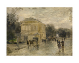 Brussels in the Rain Giclee Print by Gustave de Duyts