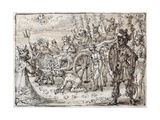 Triumphal Entry of the Indian Bacchus into Thebes Giclee Print by Crispin I De Passe