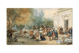A Hunting Breakfast in England, 1870 Giclee Print by Eugene-Louis Lami