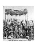 The Entry of Pope Clement VII and Emperor Charles V into Bologna on 24 February 1530, Plate 27,… Giclee Print by Nicholas Hogenberg