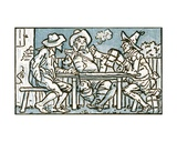 The Happy Poor, Song Illustration for 'Who Liveth So Merry in All This Land', from 'Pan-Pipes',… Giclee Print by Walter Crane