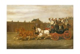 London to Brighton Coach on the Road Giclee Print by H. J. Jones