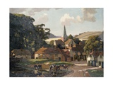 Harting Village and Pond Giclee Print by William Gunning King