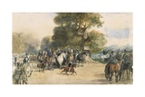 Scene in Hyde Park Giclee Print by Eugene-Louis Lami
